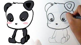 Cómo dibujar un Oso Panda Kawaii