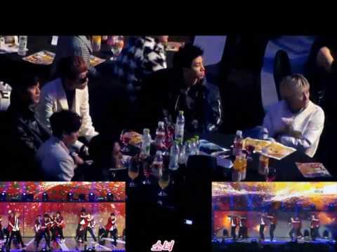 Beast/Highlight react to EXO Wolf & Growl @ 2014 SMA