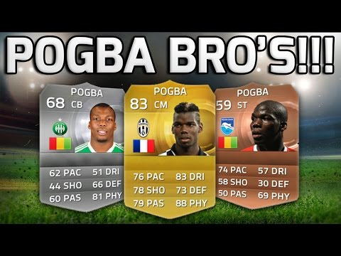 FIFA 15 - THE POGBA BROTHERS!!! - Fifa 15 Pogba Brothers Squad Builder