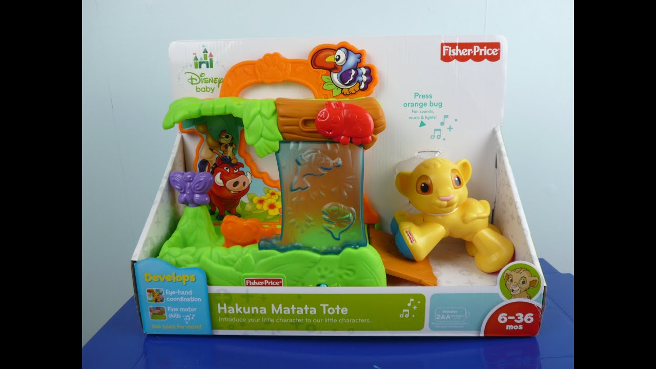 Disney Baby Fisher Price Hakuna Matata Tote Review Lion King Simba .