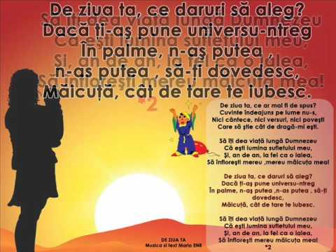 DE ZIUA TA – Cantece pentru copii in limba romana