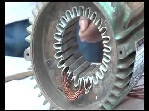 single phase motor Rewinding - YouTube