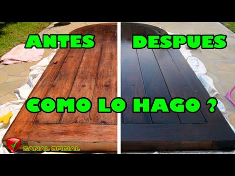 Como pintar y restaurar puerta madera exterior youtube for Colores para pintar puertas de madera