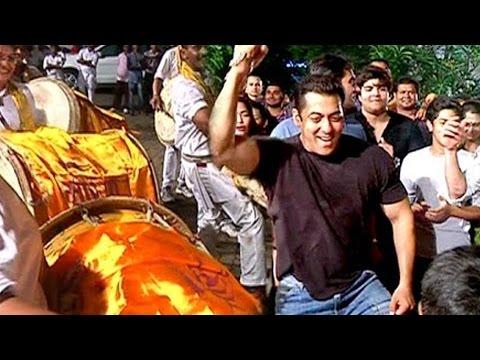 Salman Khan's CRAZY DANCE On Ganpati...