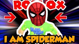 I AM SPIDERMAN in ROBLOX / HOW TO GET SPIDERMAN MASK FOR FREE! / HEROES OF ROBLOXIA
