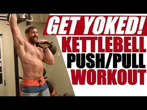 Killer Kettlebell Push-Pull Routine [SMOKES Your Back, Shoulders, & Traps!] | Chandler Marchman