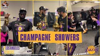 Championship Celebration of Los Angeles Lakers at Locker room | 2020 NBA CHAMPIONS