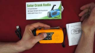 Mightyhand Emergency Solar Hand Crank FM Radio, MP3 Player, Flashlight, & Cell Phone Charger