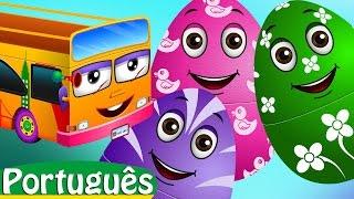 Ovos Surpresa com Brinquedos de Canções de Ninar   As rodas do Ônibus   Surpresa ChuChu TV