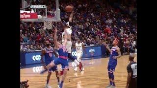 Anthony Davis dunks on Ron Baker! Legit or offensive foul?