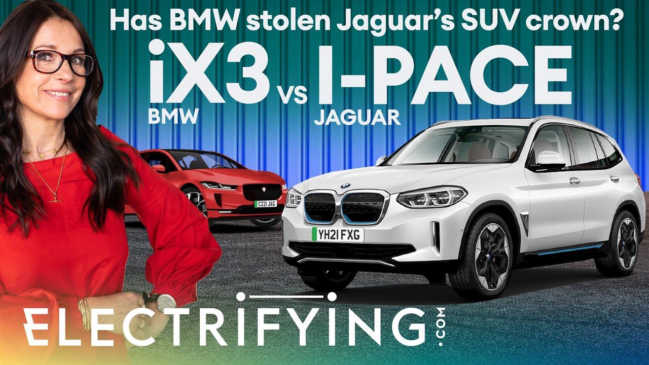 BMW iX3 vs Jaguar I-Pace - 2021 electric SUV shootout. Has BMW stolen Jag's crown? / Electrifying