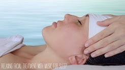 Relaxing facial with calming music and treatment sounds 😴 (no talking)