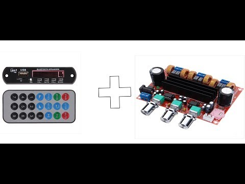 MP3 Модуль (Bluetooth SPEAKERS) + Усилитель на 200W (TPA3116)