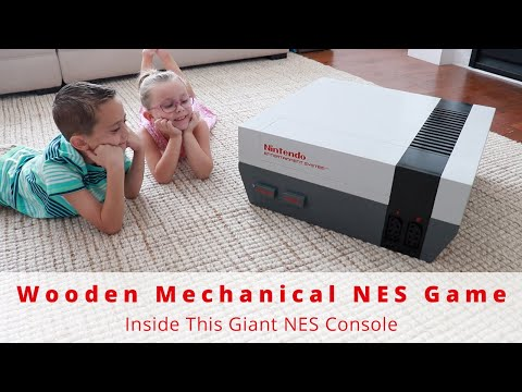 What NES Game Did I Build Inside This GIANT Classic NES Console? | Woodworking | DIY Project