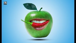 mqdefault Apple Eating Chilies Manipulation In Adobe Photoshop Cc By