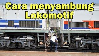 Cara Menyambung Lokomotif Dengan Gerbong Kereta