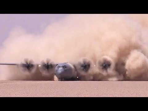 C-130J Making SPECTACULAR Dust Storm During Landing/Takeoff – USAF Special Ops Prep Dirt Runway