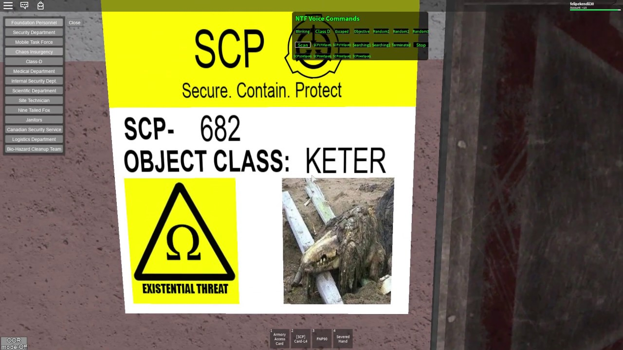 Roblox SCP Site-61 Roleplay SCP-1123 Testing by Tibay Topia