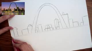 How to draw the Gateway Arch Part 1