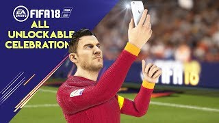 FIFA 18 ALL UNLOCKABLE CELEBRATIONS TUTORIAL