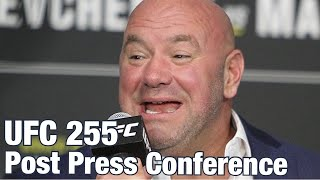Dana White flabbergasted by Mike Tyson vs Roy Jones Jr News | UFC 255 Post Press Conference