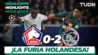 Highlights | Lille 0 - 2 Ajax | Champions League - J5 - Grupo H | TUDN