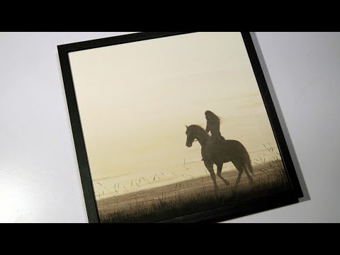Acrylic Horse Painting / Girl Riding Horse in Sunset / Step by Step Easy Tutorial for Beginners