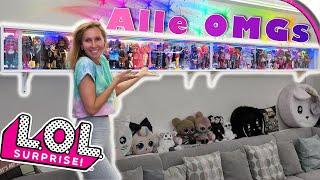 Das längste LOL Suprise Regal der Welt DIY 😲 ALLE meine OMG Dolls! 🤩 Doll Collector 👭 deutsch