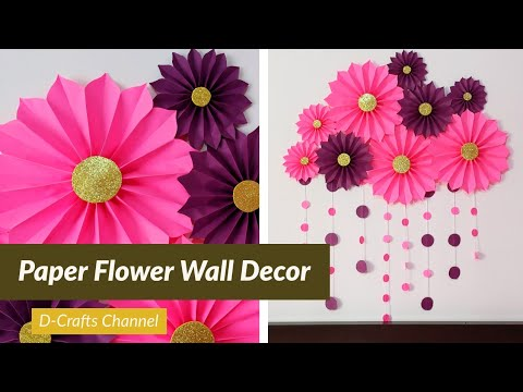 Paper Flower Wall Decor | Paper Wall Hanging | Giant Paper Flowers | Home Decor