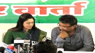 Caught on camera: Nagma off the record chat on Modi