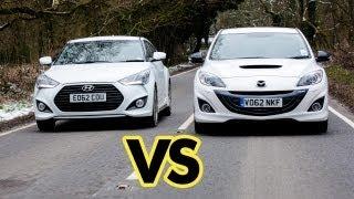 Car Battle Mazda3 MPS vs Hyundai Veloster Turbo