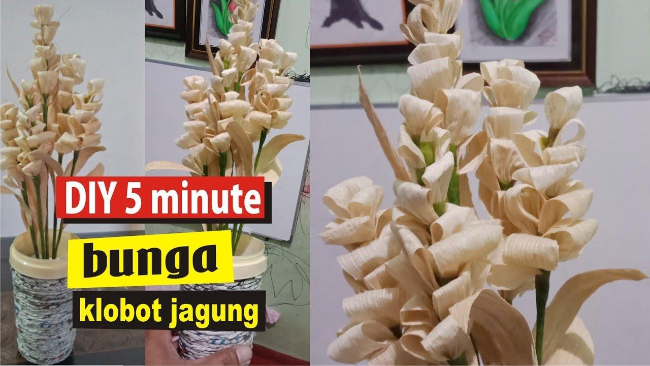 Tutorial Bunga Dari Kulit Jagung Klobot Diy Corn Husk Youtube