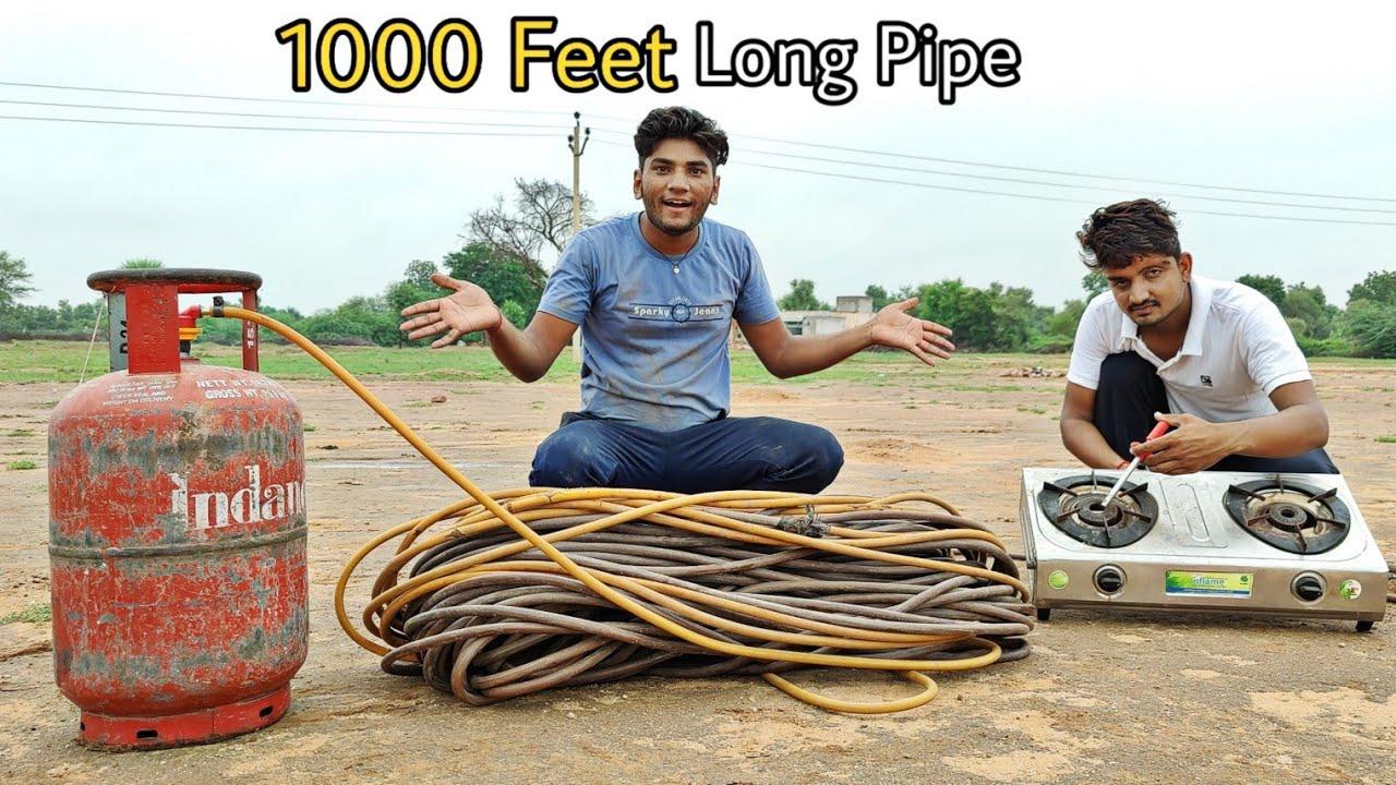 क्या 1000 फ़ीट दूर गैस पहुँच पाएगी? - World's Longest Gas pipe testing