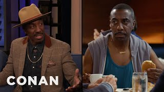 "JB Smoove Pitches His ""Curb"" Ideas To Larry David - CONAN on TBS"