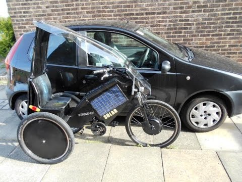Solar electric trike/bike  -1p a mile to run.