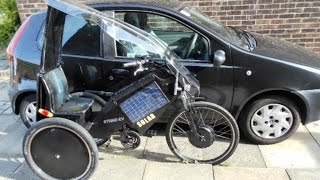 Solar electric trike/bike -1p a mile to run.