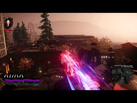 inFAMOUS Second Son free roam - Non-stop Neon Running Through The City