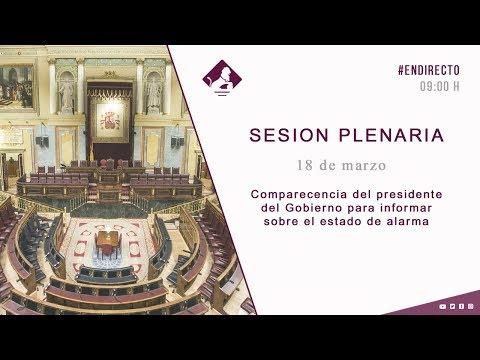 Directo 📹 Sánchez comparece en el Congreso para informar sobre el estado de alarma