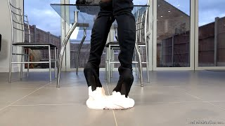 [4K] The Pervert - Suede Boots Stuck In Glue! - Teaser 2/2
