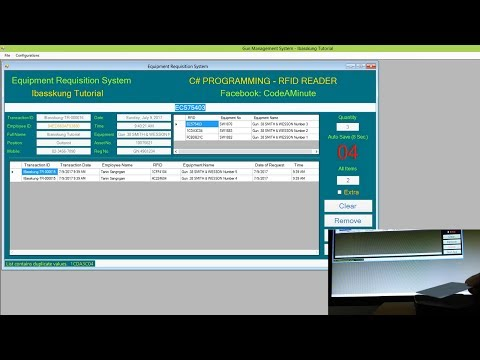C# - RFID Reader - Equipment Requisition And Return System (Quick Test)