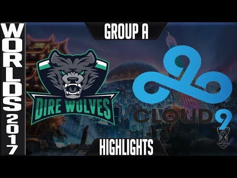 Dire Wolves vs Cloud 9 Highlights S7 Worlds 2017 Play in Group A   LoL World Championship DW vs C9