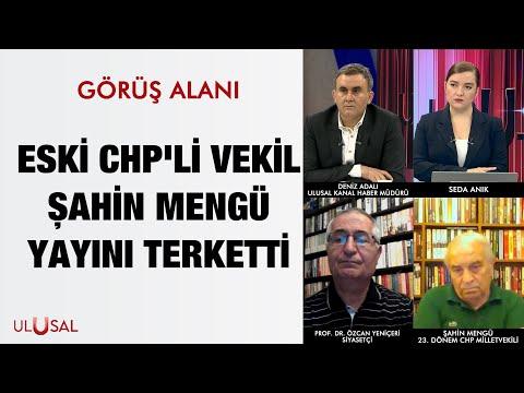 Eski CHP'li vekil Şahin Mengü yayını terketti