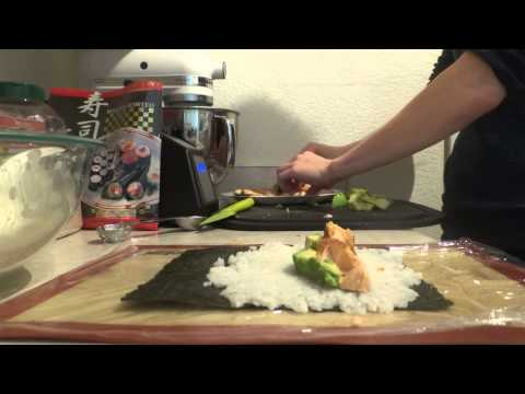 Lets Eat! How to Make Cooked Salmon Sushi | Hot to Cook Series