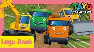 Tayo Lagu Pembukaan Tema Versi Alat-Alat Berat yang l lagu untuk anak-anak l Tayo bus kecil