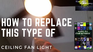 How To Replace Ceiling Fan Light Bulb For Harbor Breeze Platinum Portes Slotted Glass Groove Fan