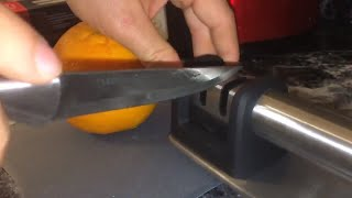 Zulay Kitchen Manual Stainless Steel Knife Sharpener  - Demo/Review