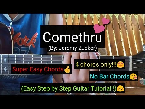Comethru - Jeremy Zucker (Easy Chords Guitar Tutorial) - YouTube
