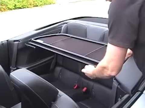 Camaro Convertible 2012 to 2013 wind deflector video ...
