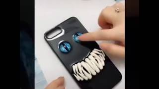How to Design your own mobile back cover at home easy for horror lovers