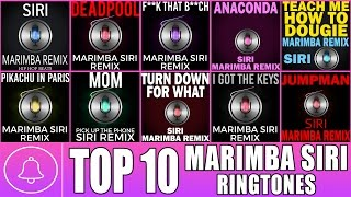 Top 10 Siri Marimba Remix Ringtones - Download links in description